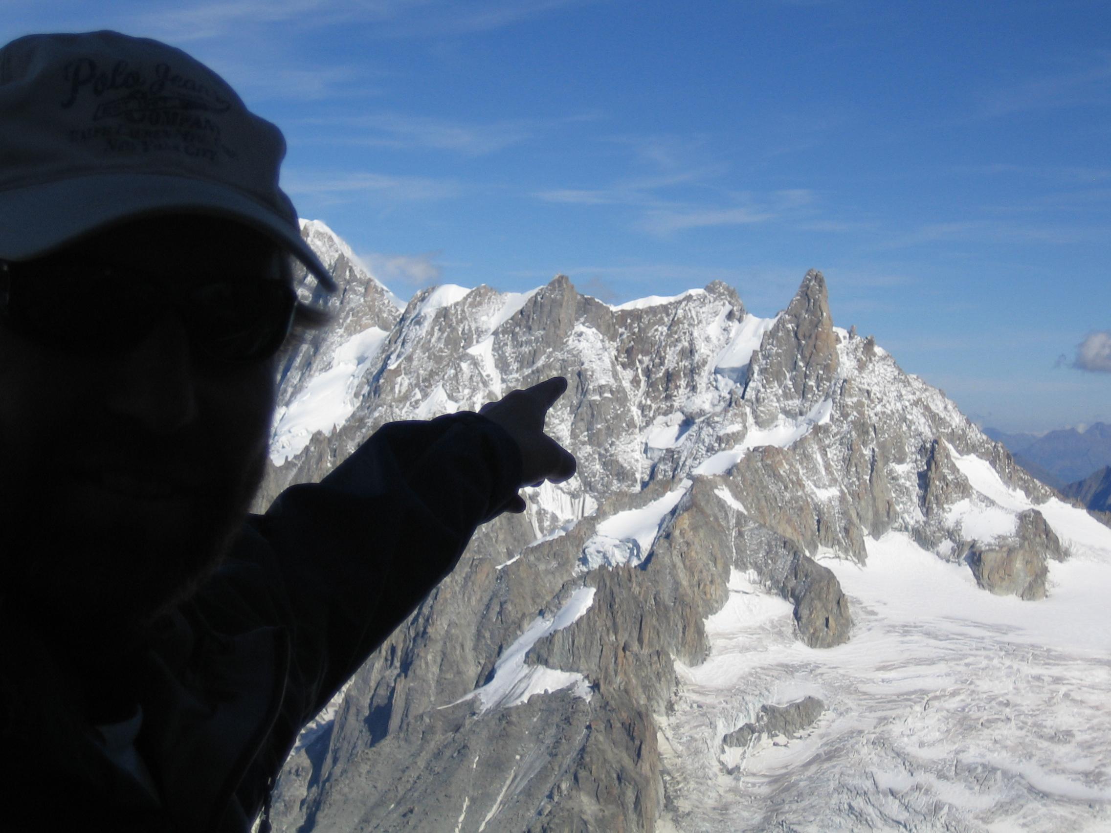 Toppen fra Aguille du Midi