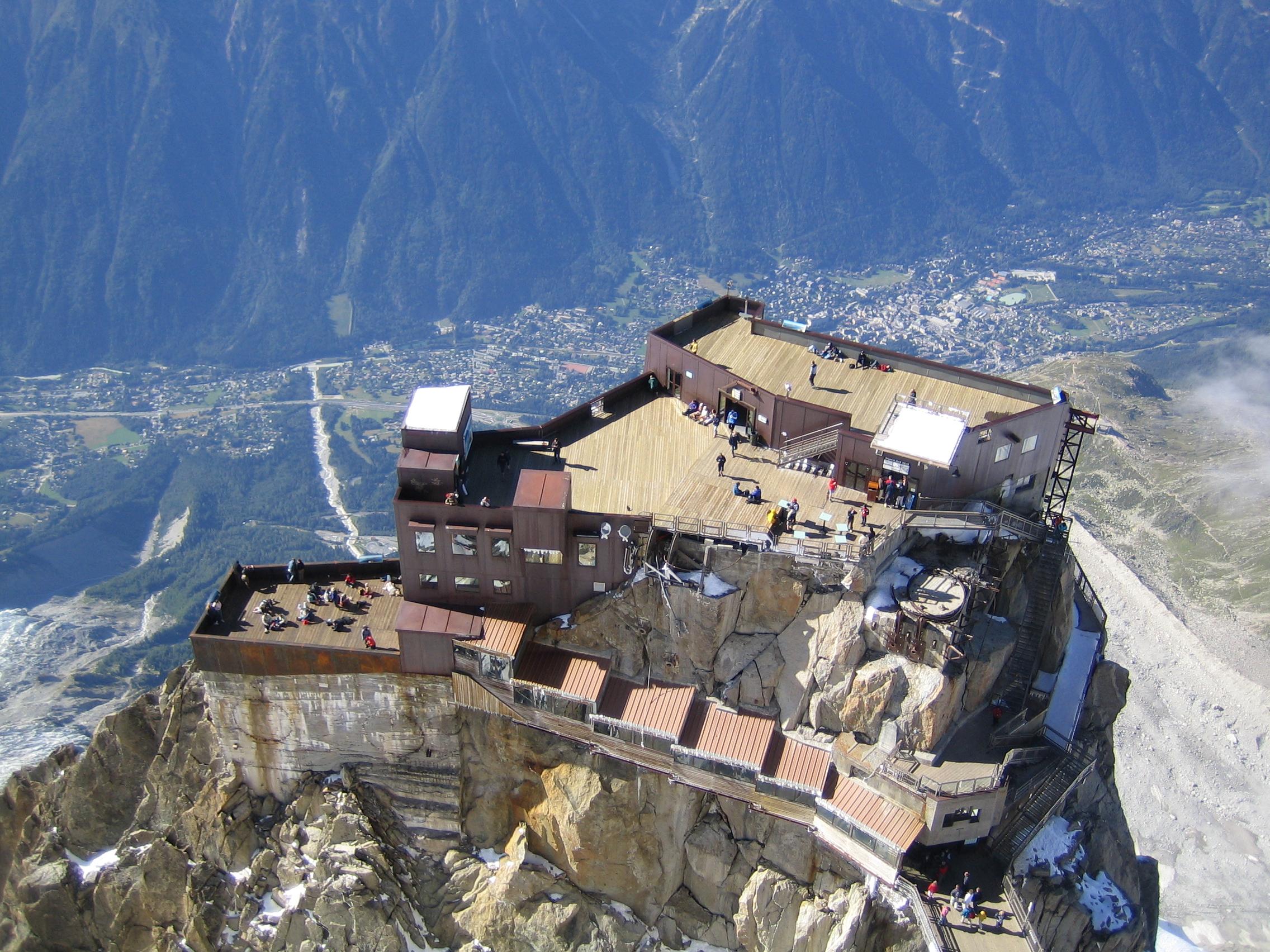 Toppen av Aguille du Midi