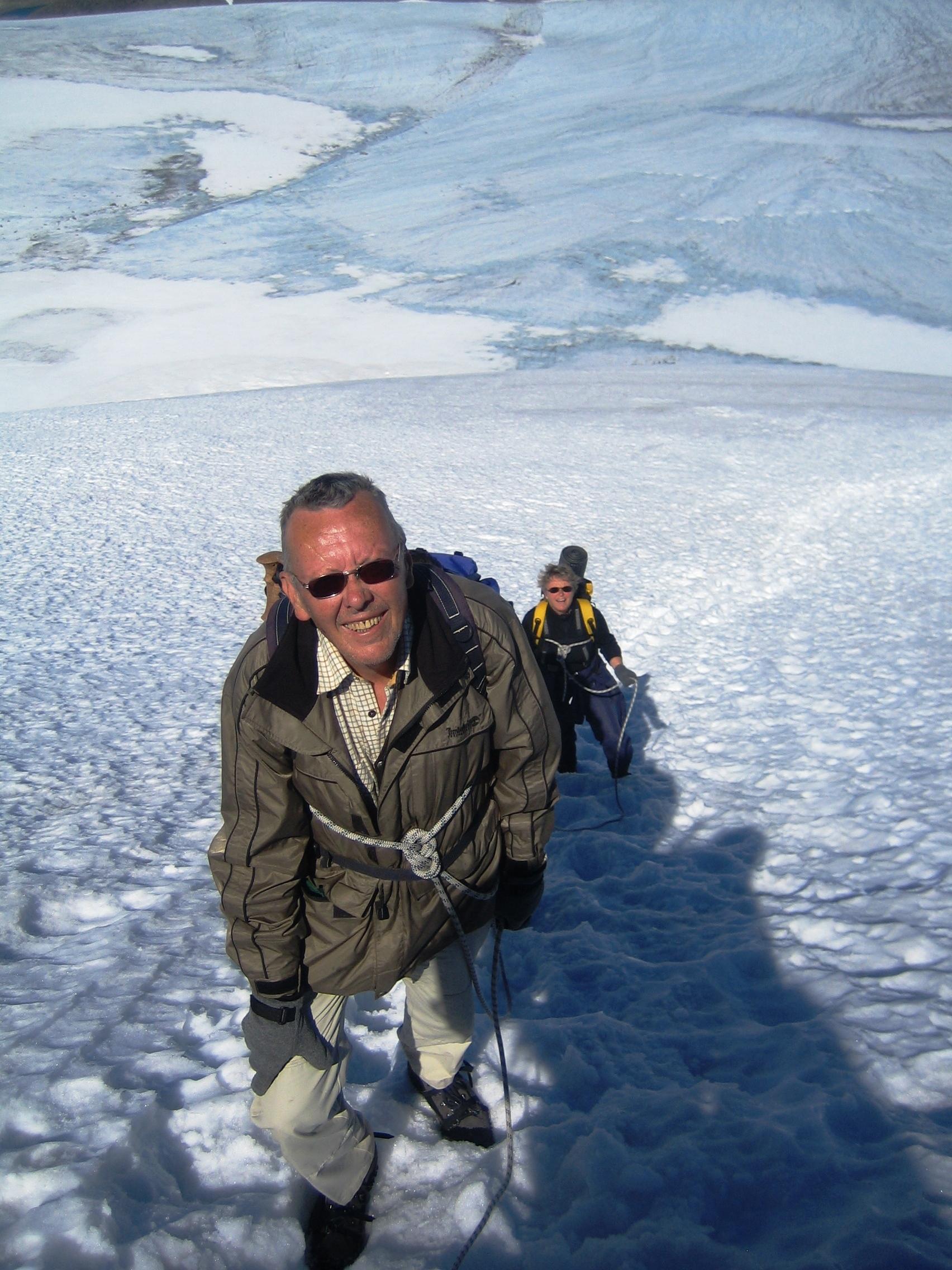 Min far mot toppen