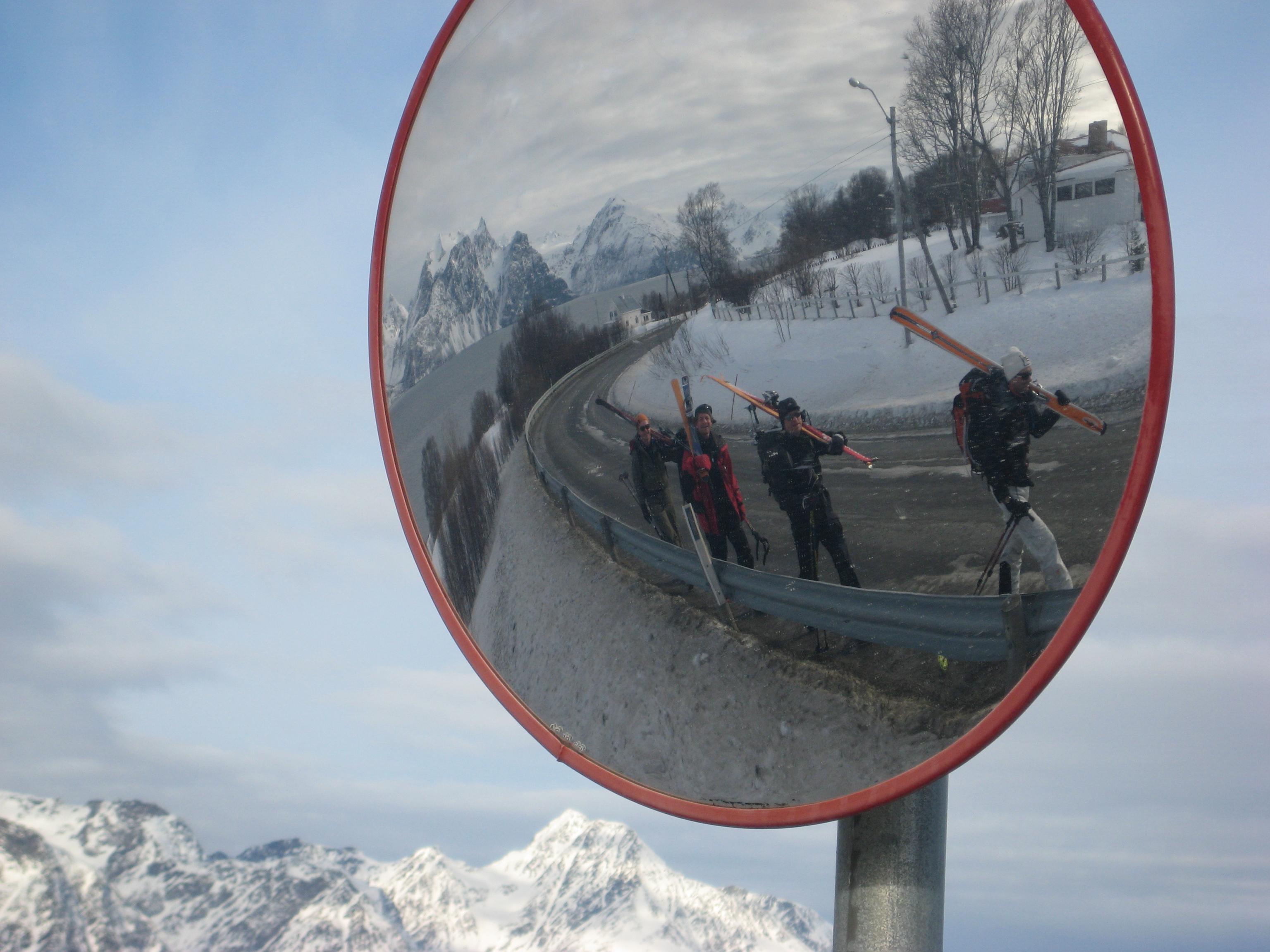 På veien på jakt etter sneen
